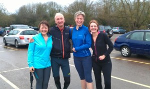 The 100th day team: Helen, Duncan, me, Becca
